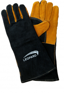 Leather Welding Gloves Leopard
