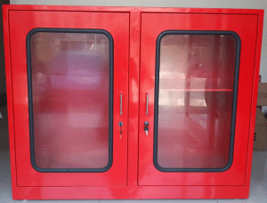 Fire Safety Cabinet Pintu Dua Kecil